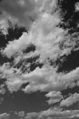 Photograph - Black And White Clouds by Brendon Bradley