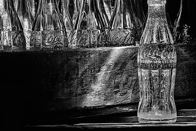 Photograph - Black And White Coke Art by JC Findley