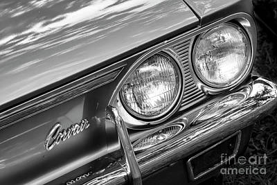 Photograph - Black And White Corvair by Dennis Hedberg
