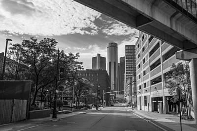 Photograph - Black And White Detroit Ren Center  by John McGraw