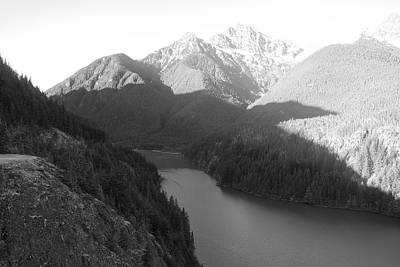 Photograph - Black And White Diablo Lake by Dan Sproul