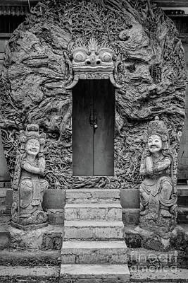 Photograph - Black And White Doors On Campuhan Ridge Walk, Ubud, Bali by Global Light Photography - Nicole Leffer