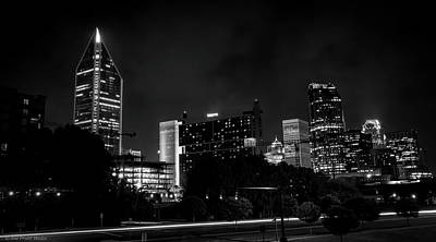 Black And White Downtown Art Print