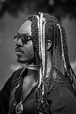 Photograph - Black And White Dreadlocks by John Haldane