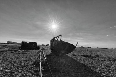 Photograph - Black And White Dungeness Boat by Prashant Meswani