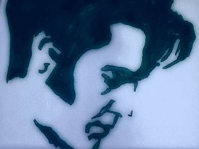 Painting - Black And White Elvis by Robert Margetts