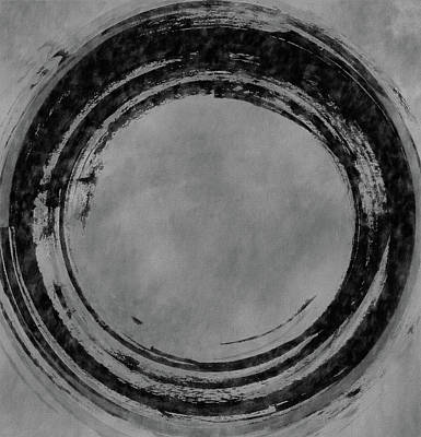 Mixed Media - Black And White Enso Circle by Dan Sproul