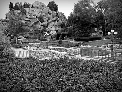 Photograph - Black And White Flower Garden Walkway by Aimee L Maher Photography and Art Visit ALMGallerydotcom