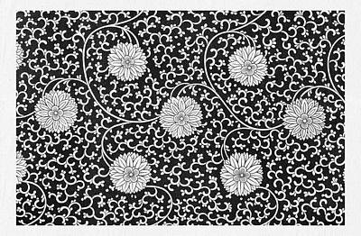 Mixed Media - Black And White Flowers Pattern Wall Art Prints by Wall Art Prints