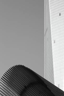 Minimal Photograph - Black And White Freedom Tower Abstract by Brooke T Ryan