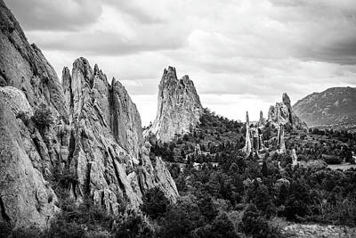 Photograph - Black And White Garden Of The Gods by Marilyn Hunt