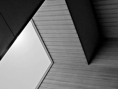 Photograph - Black And White Geometric Architectural Abstract 2 by Denise Clark
