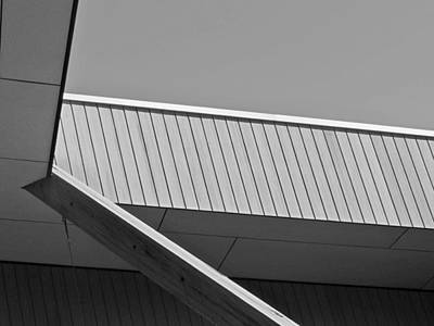 Photograph - Black And White Geometric Architectural Abstract 3 by Denise Clark