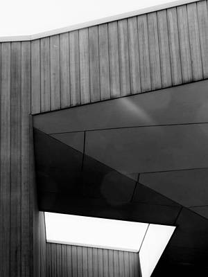 Photograph -      Black And White Geometric Building Abstract  by Denise Clark