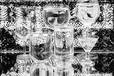 Photograph - Black And White Glasses by Menachem Ganon