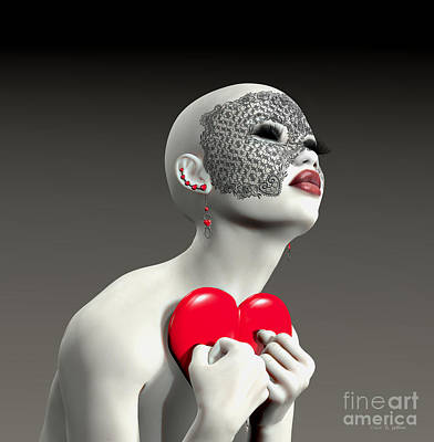 Hold My Heart Art Print by Barbara Milton