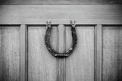 Photograph - Black And White Horseshoe by Anthony Doudt