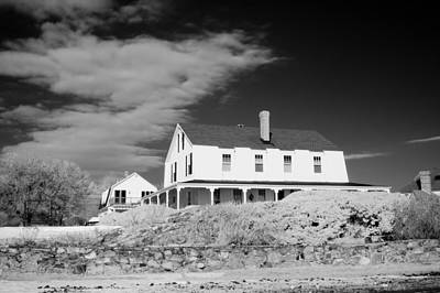 Black And White Image Of A House In New England In Infrared Art Print by David Thompson