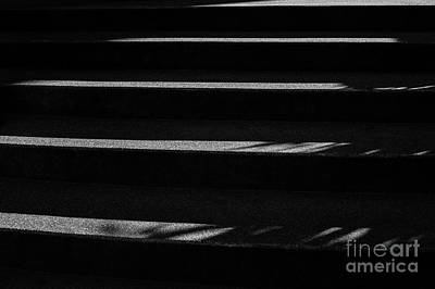 Photograph - Black And White Image Of Steps  by Jim Corwin