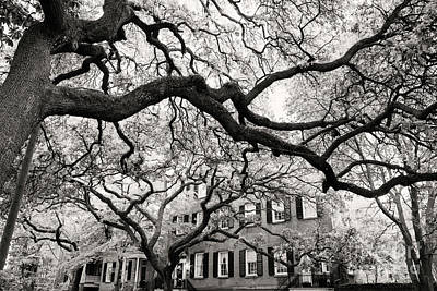 Photograph - Black And White Jones Street by Heather Green