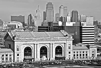 Photograph - Black And White Kansas City by Frozen in Time Fine Art Photography