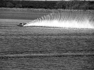 Photograph - Black And White Lake Alfred Usts Boat Races 001 by Chris Mercer