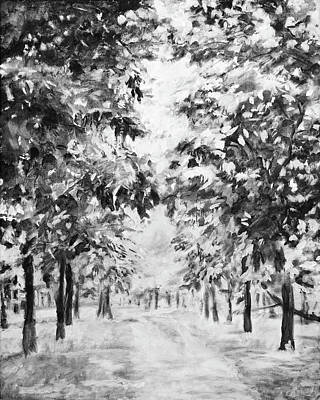 Painting - Black And White Landscape by Masha Batkova