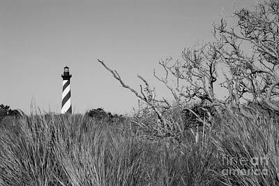 Photograph - Black And White Lighthouse by Jill Lang
