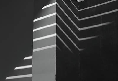 Photograph - Black And White Line Pattern Minimalism Image 1 by Prakash Ghai