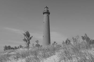 Photograph - Black And White Little Point Lighthouse by Dan Sproul