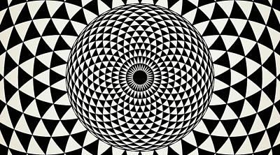 Drawing - Black And White  Mandala Art by Wall Art Prints