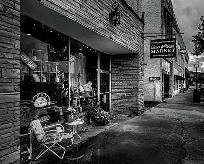 Black And White Photograph - Black And White Market In Black And White by Greg Mimbs