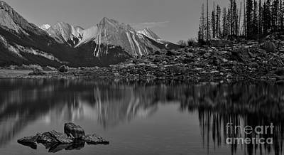 Photograph - Black And White Medicine Lake by Adam Jewell