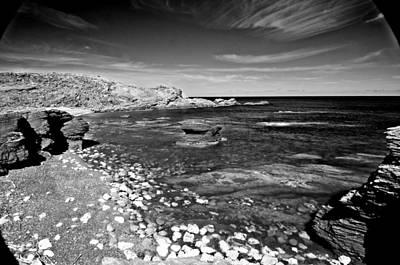 Photograph - Black And White Mediterranean Sea by Pedro Cardona