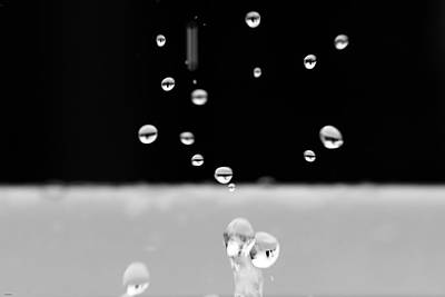 Photograph - Black And White Mini Water Drops by Crystal Wightman