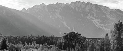 Photograph - Black And White Morning Light On The Tetons by Dan Sproul