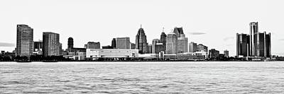 Photograph - Black And White Motor City Pano by Frozen in Time Fine Art Photography