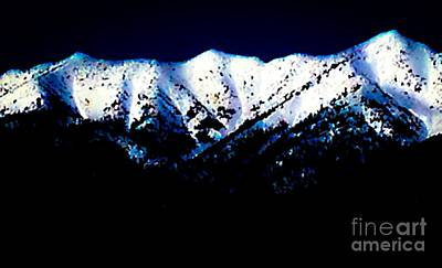 Mixed Media - Black And White Mountains by Jennifer Lake