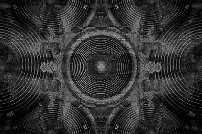 Digital Art - Black And White Music Speakers by Steve Ball
