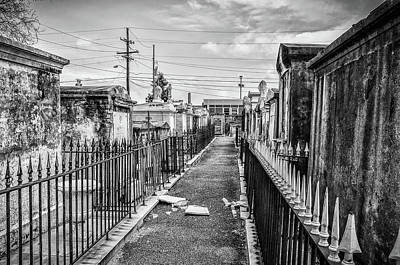 Photograph - Black And White New Orleans - St Louis Cemetery by Bill Cannon