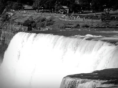 Photograph - Black And White Niagara Falls 10 by Aimee L Maher Photography and Art Visit ALMGallerydotcom