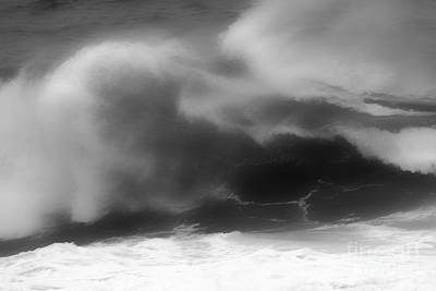 Photograph - Black And White Ocean Blur by Adam Jewell