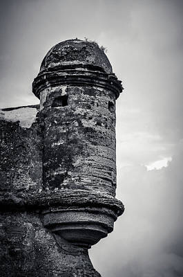 Photograph - Black And White Of Castillo De San Marcos by Tammy Ray