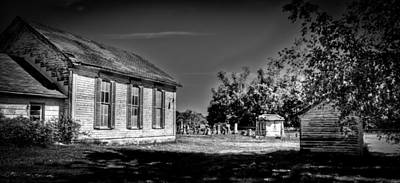 Photograph - Black And White Of Old Church by Jonny D