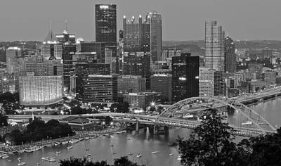 Black And White Of Pittsburgh Art Print by Frozen in Time Fine Art Photography