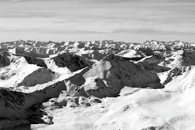Steve Krull Royalty-Free and Rights-Managed Images - Black and White of the Summit of Mount Elbert Colorado in Winter by Steve Krull