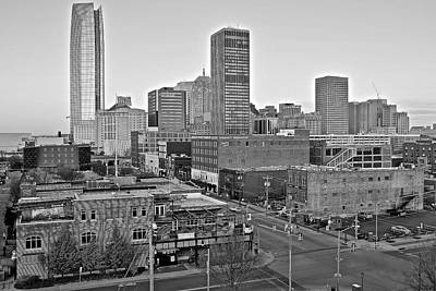 Photograph - Black And White Okc  by Frozen in Time Fine Art Photography