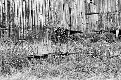 Photograph - Black And White Old Barn In Maine by Keith Webber Jr