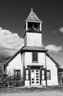 Photograph - Black And White Old Country Church by Keith Webber Jr