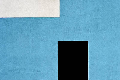 Photograph - Black And White On Blue by Stuart Allen